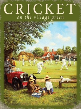 Cricket on the Green Metal Sign