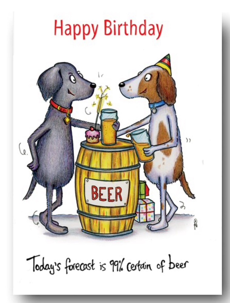 99% Beer Dog Card