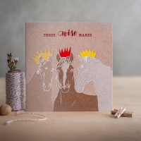 Three Wise Mares Christmas Card