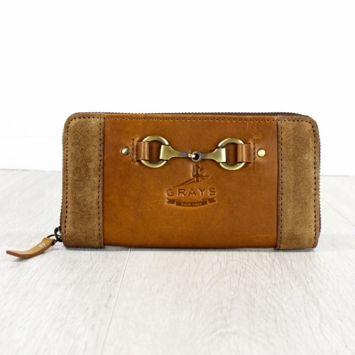 Sally Purse in Leather and Suede Antique Tan