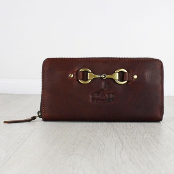 Sally Equine Purse In Fine Leather Brown