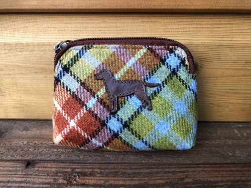 Dog Tweed Coin Purse