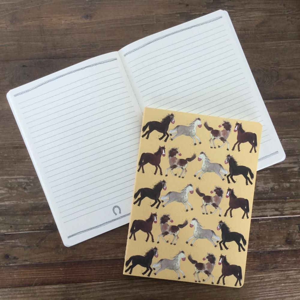 Happy Horses Large Soft Notebook