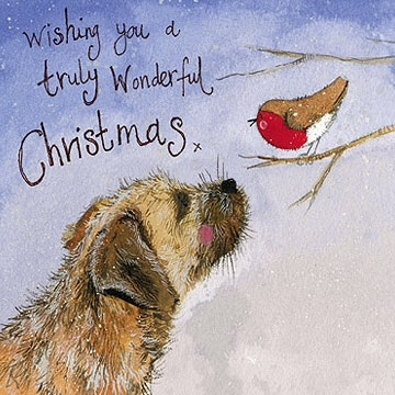 Border Terrier Christmas Card Pack