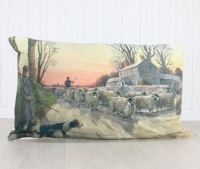 Red Sky at Night Sheep Cushion