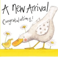 New Arrival Sparkly Card