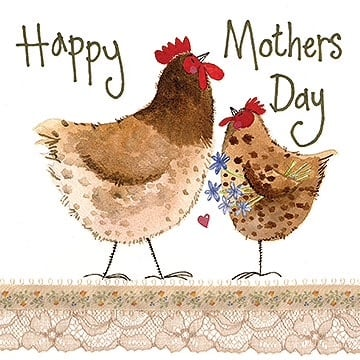Happy Mother's Day Chickens Card