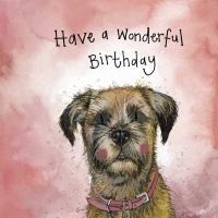 Sunshine Border Terrier Birthday Card