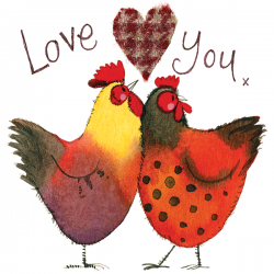 Love You Chickens Card