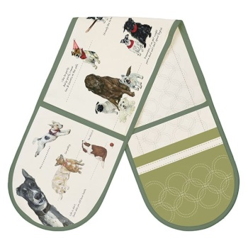 Dog Double Oven Gloves