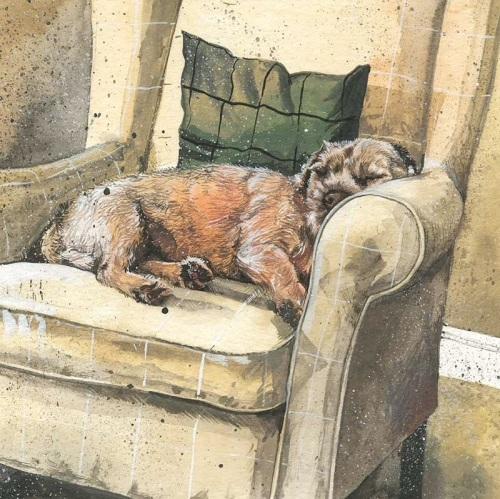 Archie Border Terrier Blank Card