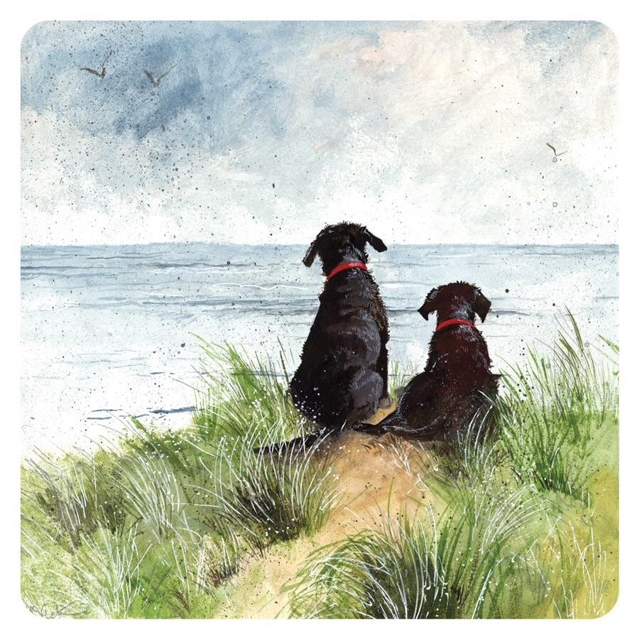 Over the Horizon Labradors Coaster
