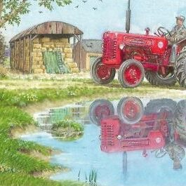 International B275 Tractor in Reflective Mode Card