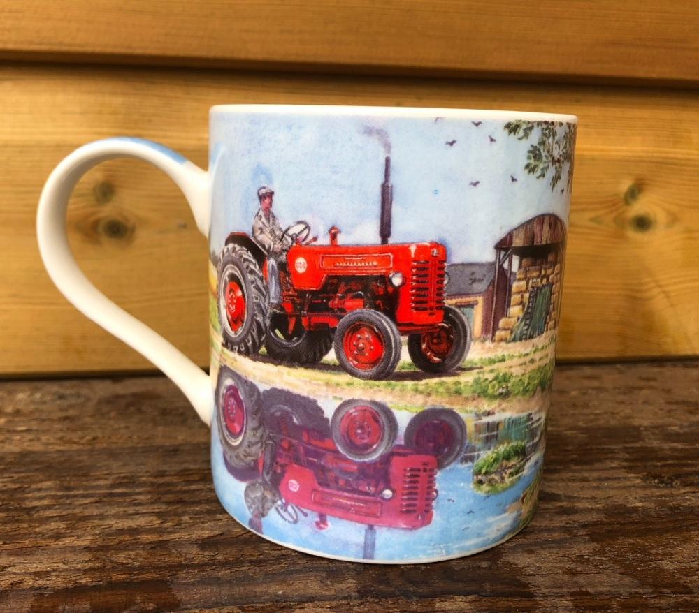 International B275 Tractor in Reflective Mode Mug