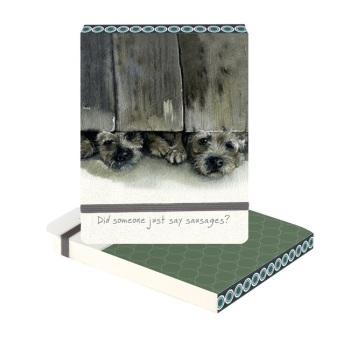 Sausages Border Terrier Slim Notebook