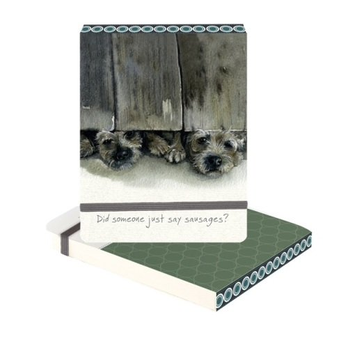 Sausages Border Terrier Slim Notebook