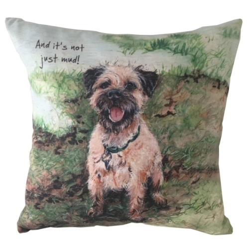 Not Mud Border Terrier Cushion