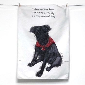 Little Dog Tea Towel