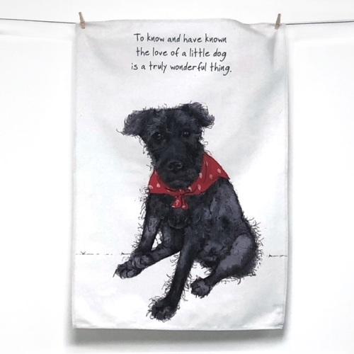 Little Dog Tea Towel