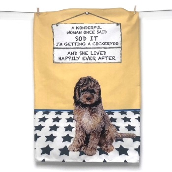Cockerpoo Tea Towel