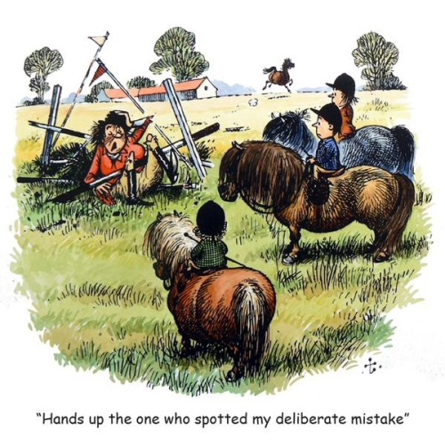 Thelwell Deliberate Mistake Card