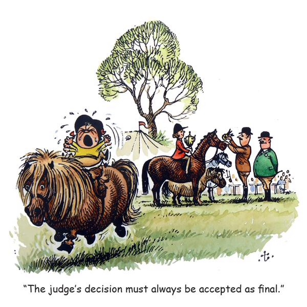 Thelwell Judge's Decision Card