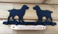 Working Spaniel 6 Hook Key Rack
