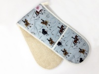 Dressage Pattern Double Oven Gloves
