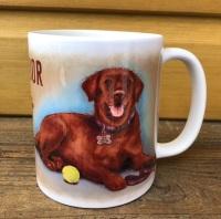 Chocolate Labrador Ceramic Mug
