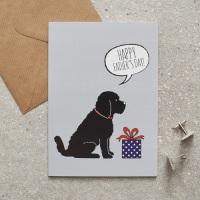 Black Cockerpoo Father's Day Card