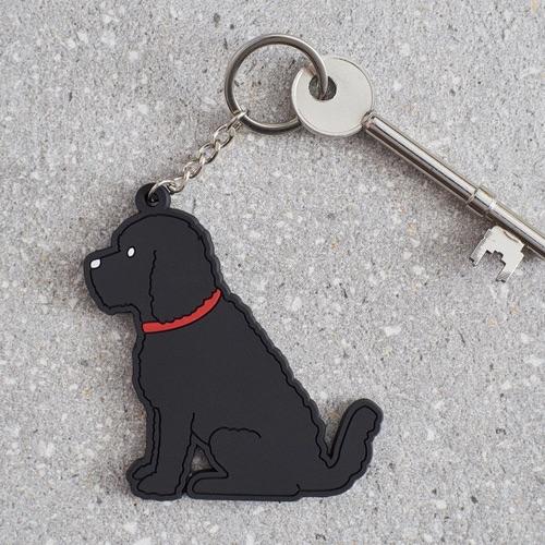 Black Cockapoo  Key Ring