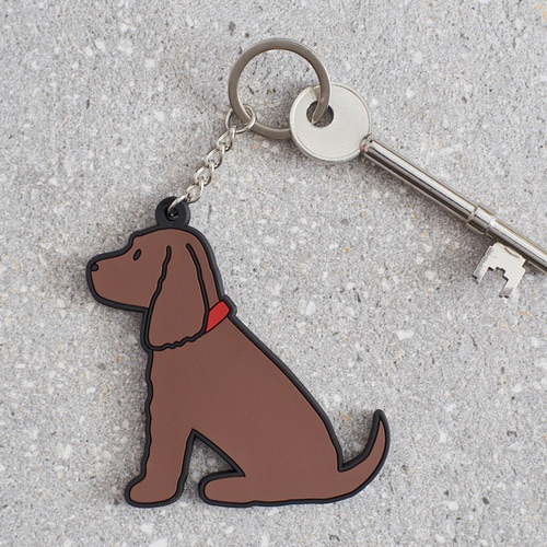 Brown Cocker Spaniel Key Ring
