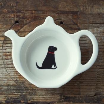 Gift Boxed Black Labrador Teabag Dish