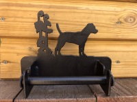 Patterdale Terrier Loo Roll Holder