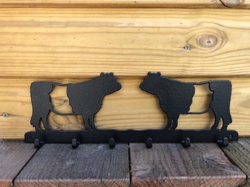 Belted Galloway 6 Hook Key Rack