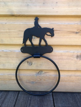 Western Riding Towel Ring