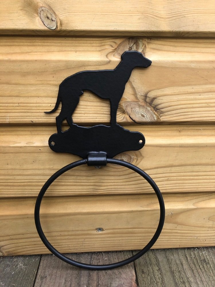 Sighthound Towel Ring
