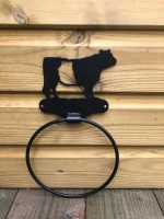 Belted Galloway Towel Ring