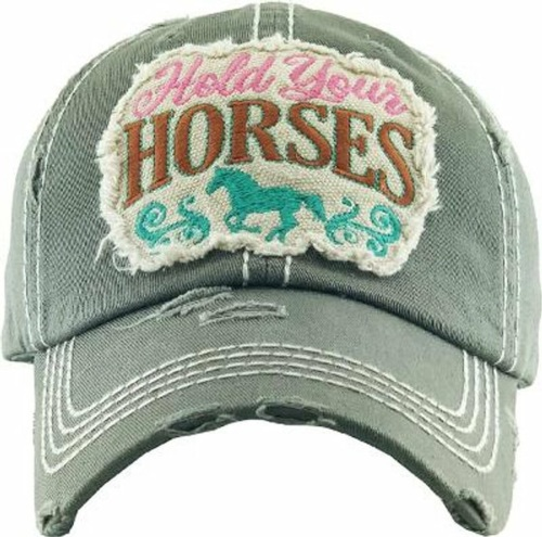 Hold your Horses Olive Green Cap