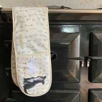 Collie and Ducks Oven Gloves