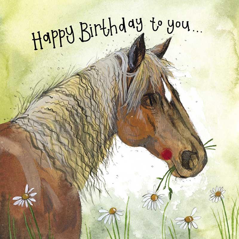 Sunshine Horse Birthday Card