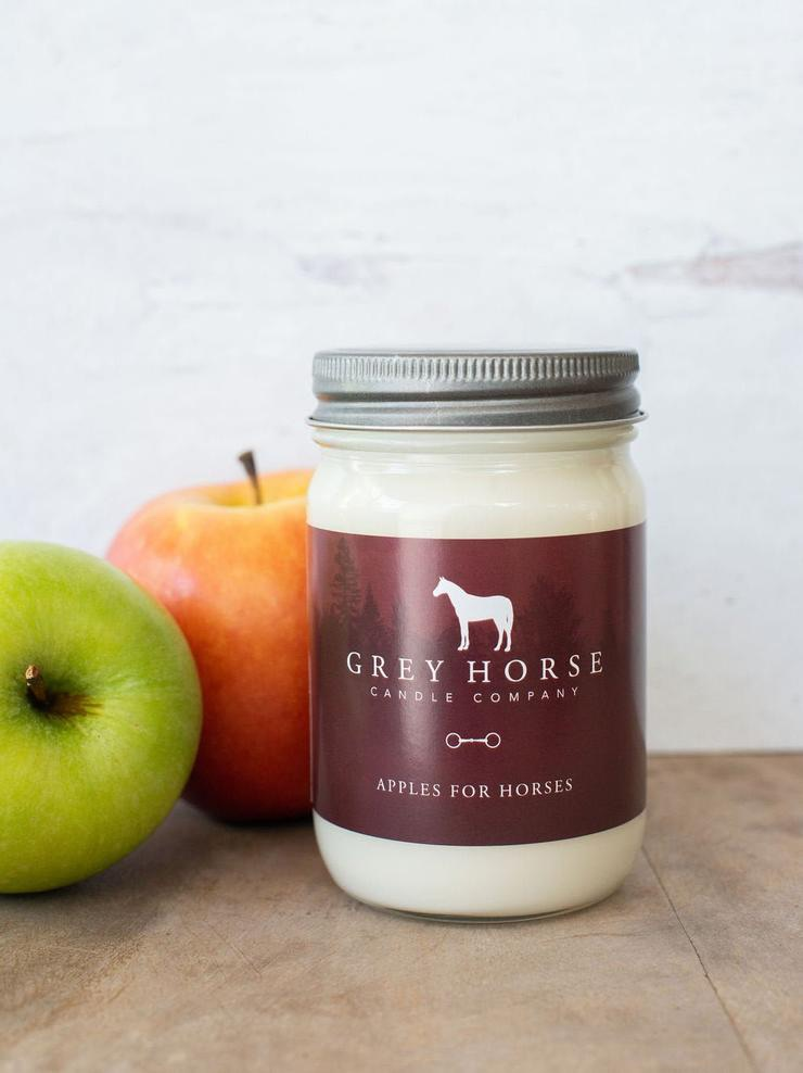 Apples for Horses Candle