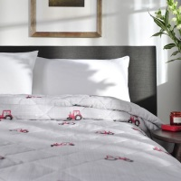 Red Tractor Bed Spread