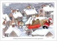 Socially distanced Reindeer Christmas Card