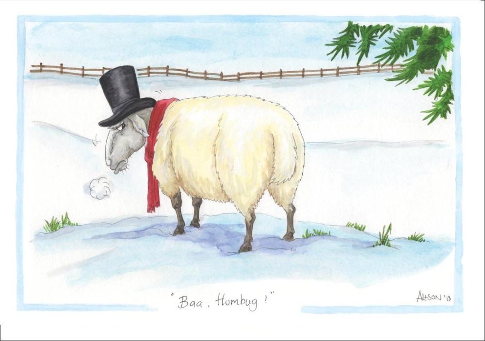 BAA Humbug Christmas Card
