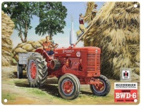 McCormick BWD-6 Tractor Metal Sign