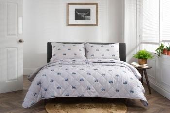 Blue Tractor Bed Spread