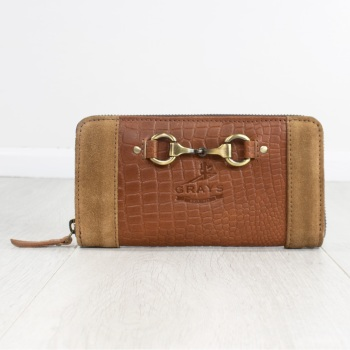 Sally Purse in Crocodile Leather and Suede