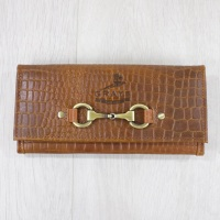 Lily Purse in Brown Crocodile Leather