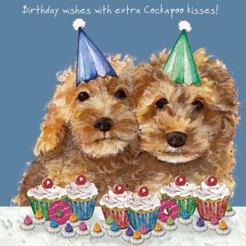 Cockapoo Kisses Birthday Card